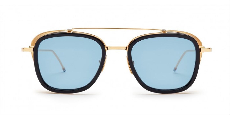 adfac12842d Sunglasses THOM BROWNE TB 808 NVY GLD